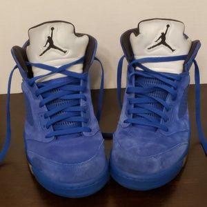 Nike Air Jordan V 5 Retro Blue Suede Sz 13